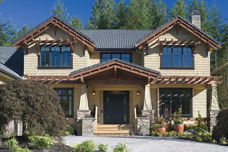 Lake House Plan Front Photo 05 - Patterson Luxury Craftsman Home 011S-0087 | House Plans and More