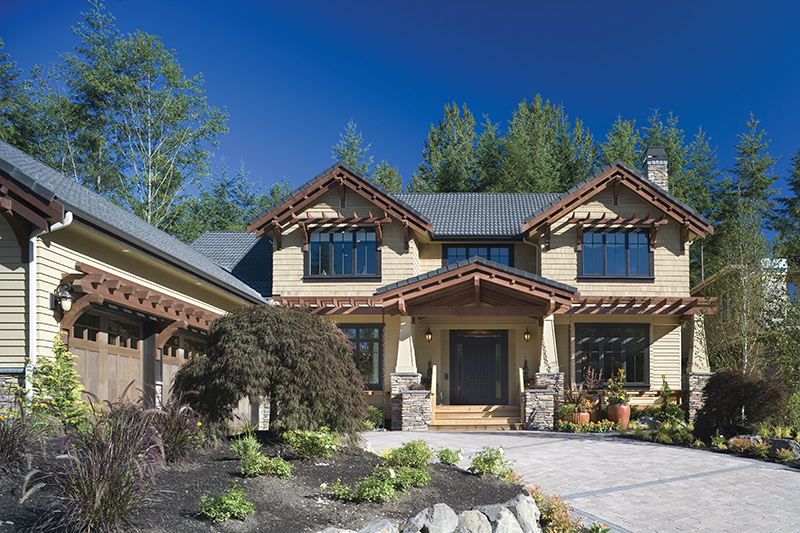 Lake House Plan Front Photo 06 - Patterson Luxury Craftsman Home 011S-0087 | House Plans and More