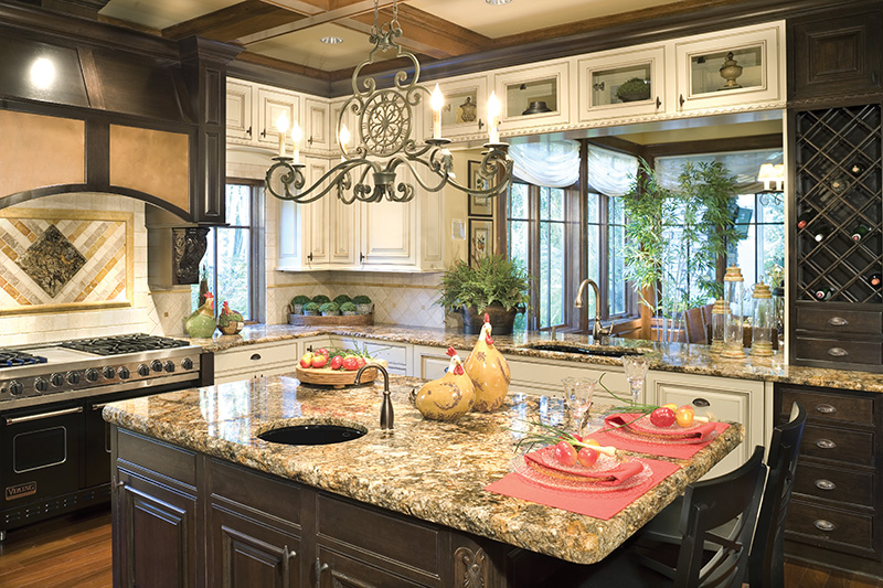 Lake House Plan Kitchen Photo 04 - Patterson Luxury Craftsman Home 011S-0087 | House Plans and More