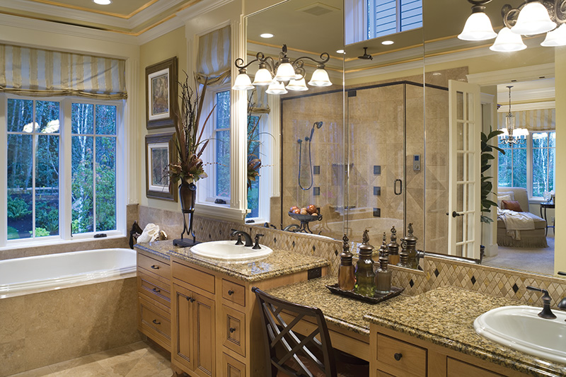 Lake House Plan Master Bathroom Photo 01 - Patterson Luxury Craftsman Home 011S-0087 | House Plans and More