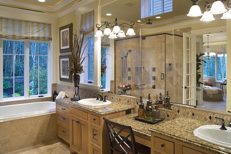 Lake House Plan Master Bathroom Photo 04 - Patterson Luxury Craftsman Home 011S-0087 | House Plans and More