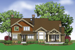 Lake House Plan Rear Photo 02 - Patterson Luxury Craftsman Home 011S-0087 | House Plans and More