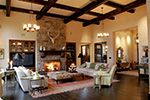 Ranch House Plan Family Room Photo 01 - DeMere Luxury European Home 011S-0088 | House Plans and More