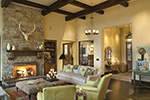 Ranch House Plan Living Room Photo 04 - DeMere Luxury European Home 011S-0088 | House Plans and More