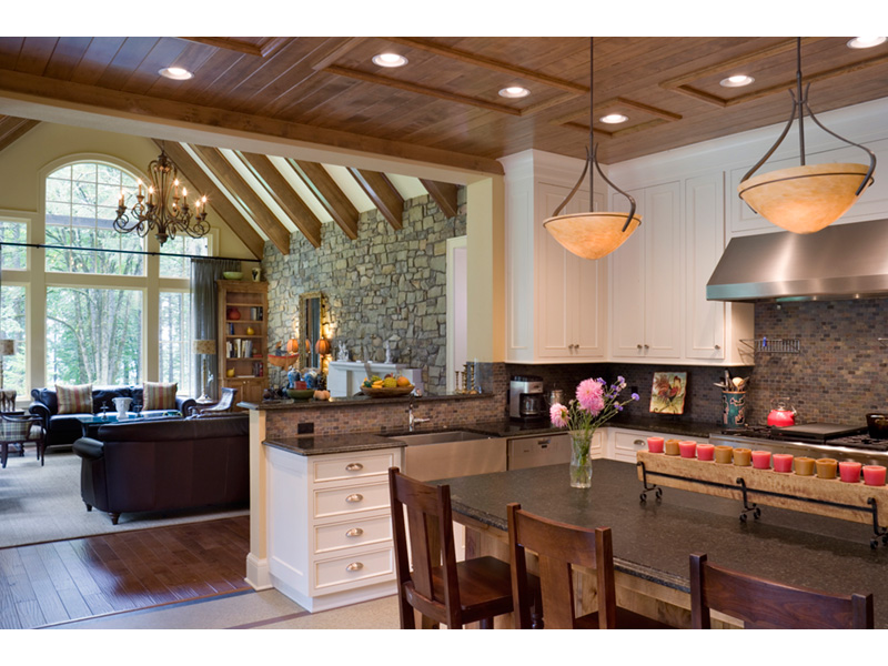 Vacation House Plan Kitchen Photo 01 - Timber Creek Luxury Home 011S-0089 | House Plans and More