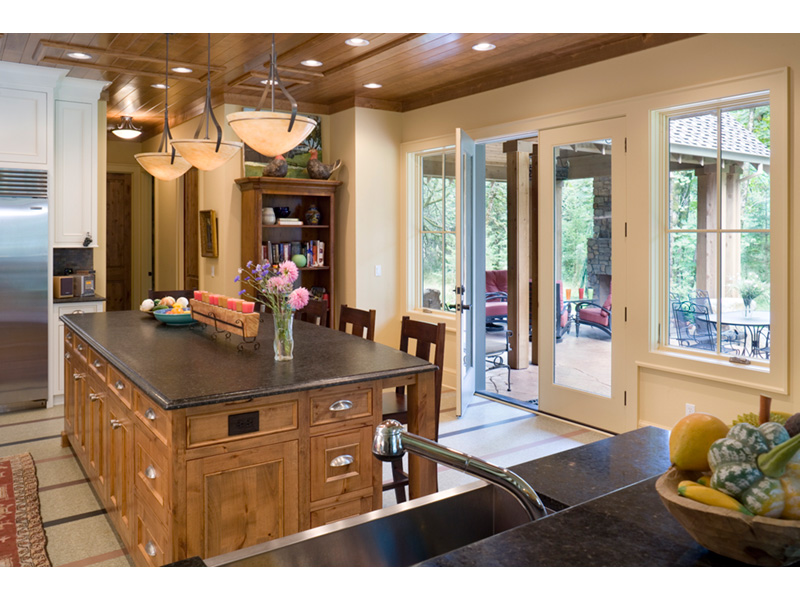 Vacation House Plan Kitchen Photo 03 - Timber Creek Luxury Home 011S-0089 | House Plans and More