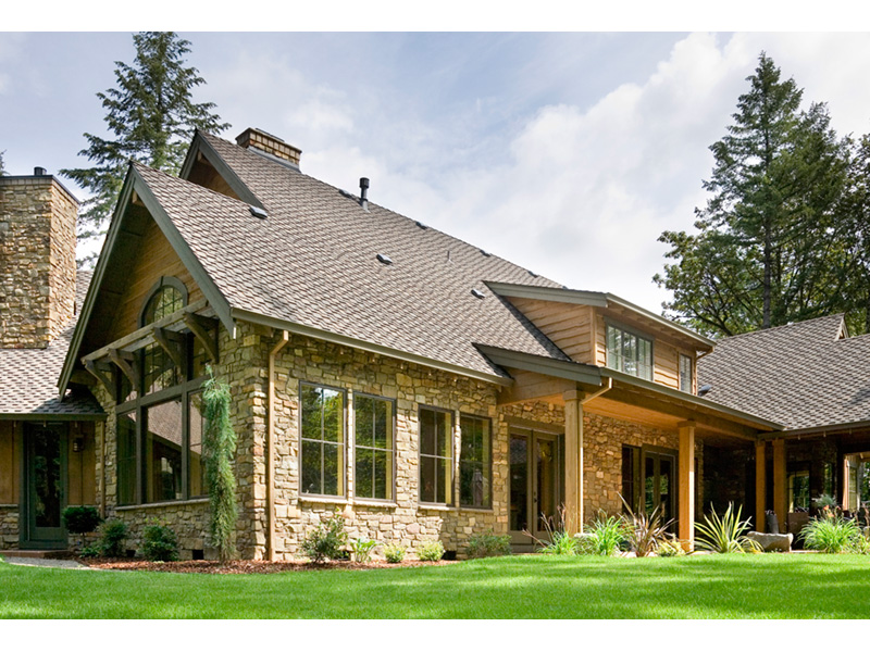 Vacation House Plan Side View Photo - Timber Creek Luxury Home 011S-0089 | House Plans and More