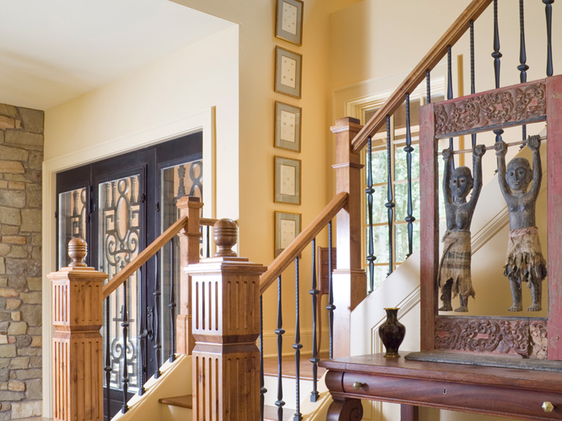 Vacation House Plan Stairs Photo - Timber Creek Luxury Home 011S-0089 | House Plans and More