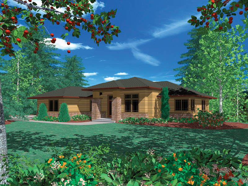 Florida House Plan Front of Home -  011S-0093 | House Plans and More