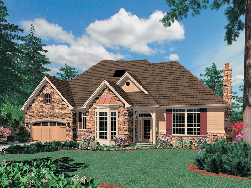Ranch House Plan Front of Home -  011S-0095 | House Plans and More
