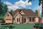 Craftsman House Plan Front of Home -  011S-0095 | House Plans and More