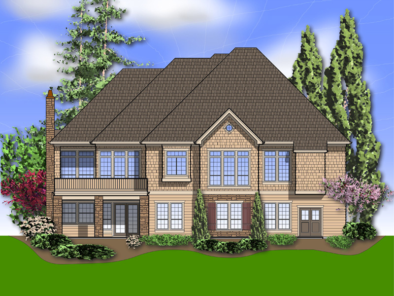 Ranch House Plan Color Image of House -  011S-0095 | House Plans and More