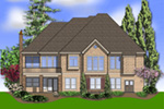 Luxury House Plan Color Image of House -  011S-0095 | House Plans and More