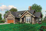 Ranch House Plan Front of Home - Prichard Luxury Craftsman Home 011S-0100 | House Plans and More