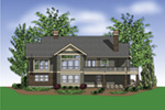 Ranch House Plan Rear Photo 01 - Prichard Luxury Craftsman Home 011S-0100 | House Plans and More