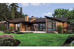 Waterfront House Plan Rear Photo 01 - Pello Prairie Style Home 011S-0101 | House Plans and More