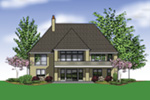 Luxury House Plan Rear Photo 01 - Lindley Bay European Home 011S-0103 | House Plans and More