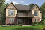 Rustic Home Plan Rear Photo 01 - Steinhoff Luxury European Home 011S-0106 | House Plans and More