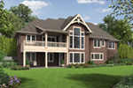 European House Plan Rear Photo 01 - Sterling Way Luxury Home  011S-0107 | House Plans and More