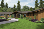 Contemporary House Plan Front of Home - Wyman Rustic Prairie Home 011S-0108 | House Plans and More
