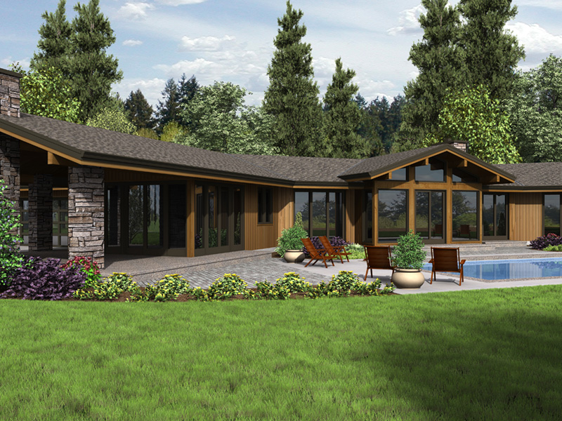Rustic Home Plan Rear Photo 01 - Wyman Rustic Prairie Home 011S-0108 | House Plans and More