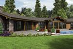 Contemporary House Plan Rear Photo 01 - Wyman Rustic Prairie Home 011S-0108 | House Plans and More