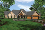 Ranch House Plan Front Image - Knotty Pine Luxury Home 011S-0112 | House Plans and More