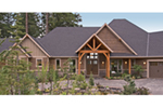 Ranch House Plan Front of Home - Knotty Pine Luxury Home 011S-0112 | House Plans and More
