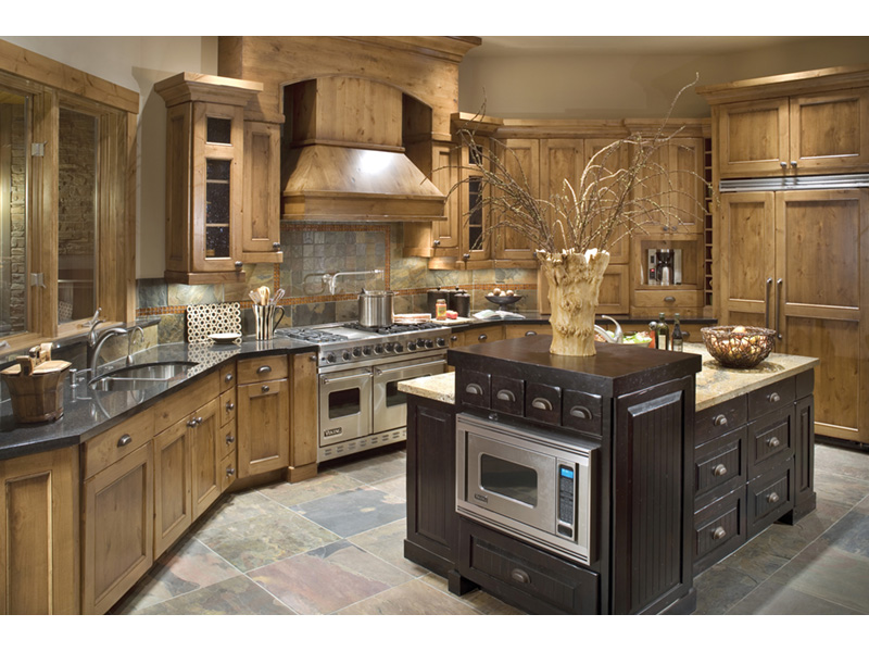 Ranch House Plan Kitchen Photo 01 - Knotty Pine Luxury Home 011S-0112 | House Plans and More