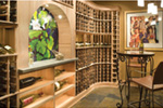 Ranch House Plan Wine Cellar Photo - Knotty Pine Luxury Home 011S-0112 | House Plans and More