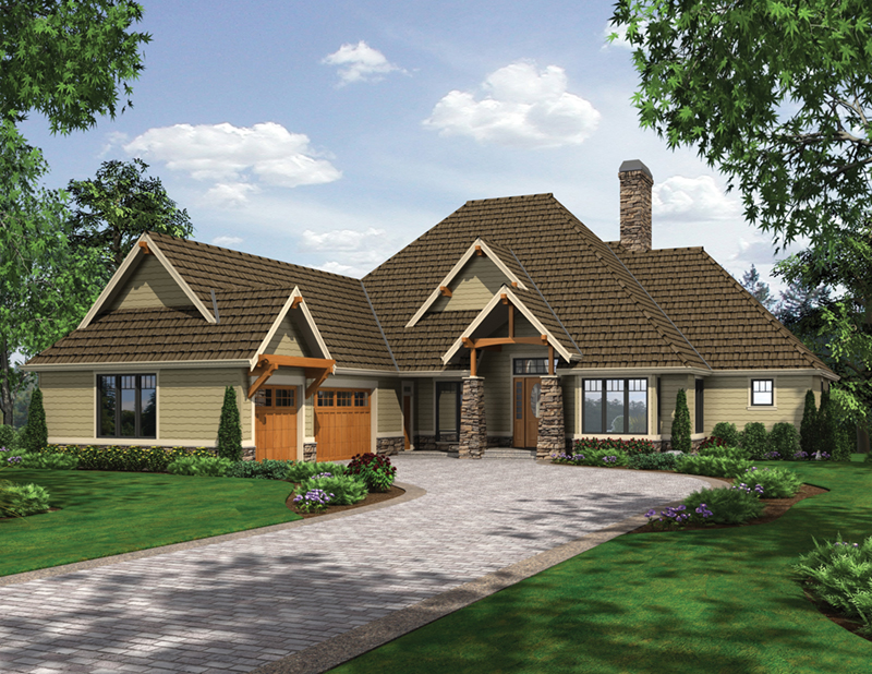 Lake House Plan Front of Home -  011S-0113 | House Plans and More