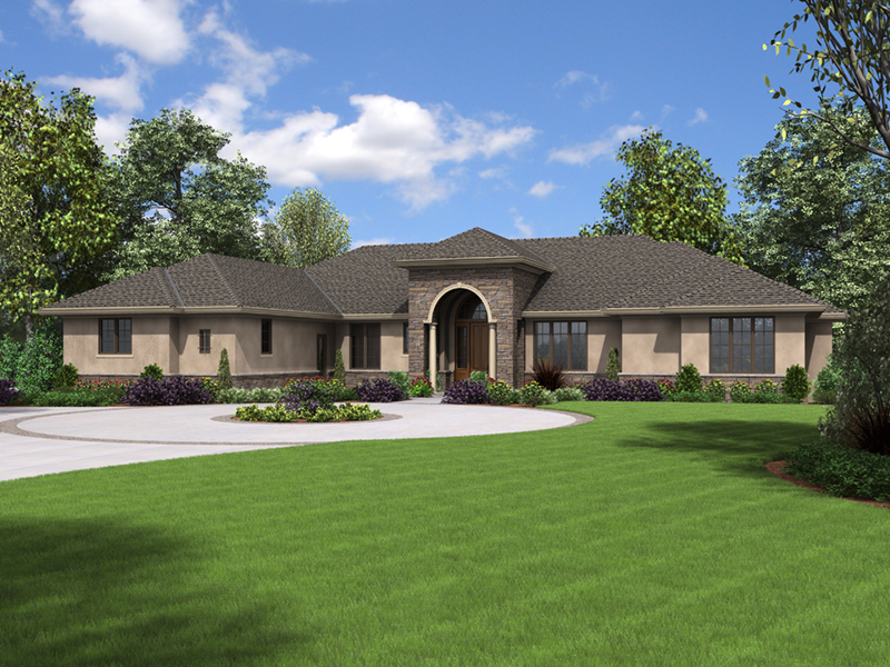 Contemporary House Plan Front of Home - Wynhaven Luxury European Home 011S-0114 | House Plans and More