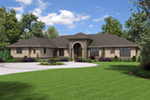 Ranch House Plan Front of Home - Wynhaven Luxury European Home 011S-0114 | House Plans and More