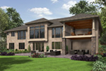 Ranch House Plan Rear Photo 01 - Wynhaven Luxury European Home 011S-0114 | House Plans and More