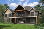 Ranch House Plan Rear Photo 01 - Morrow Oak Luxury Home 011S-0115 | House Plans and More