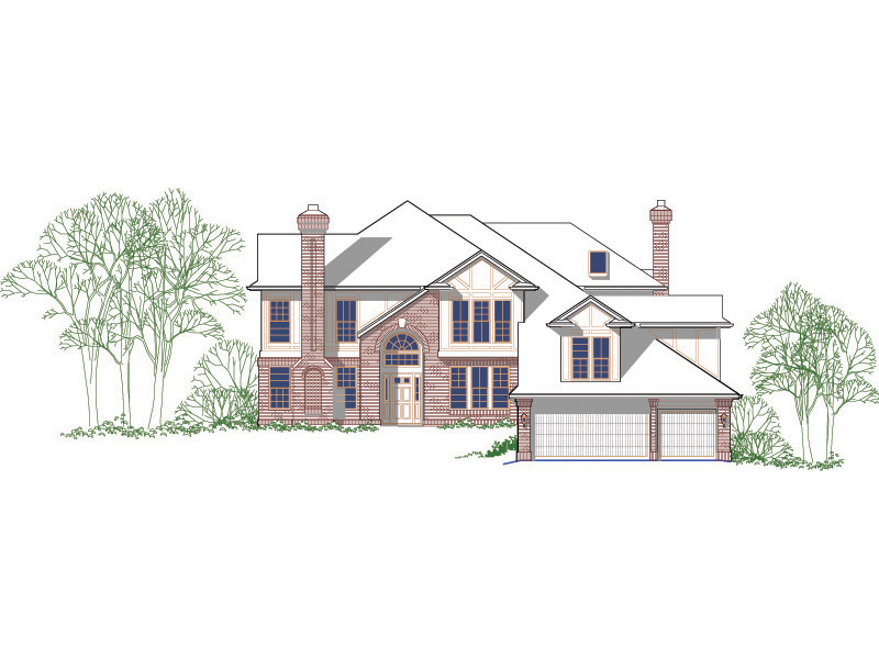 English Cottage House Plan Front Image -  011S-0116 | House Plans and More
