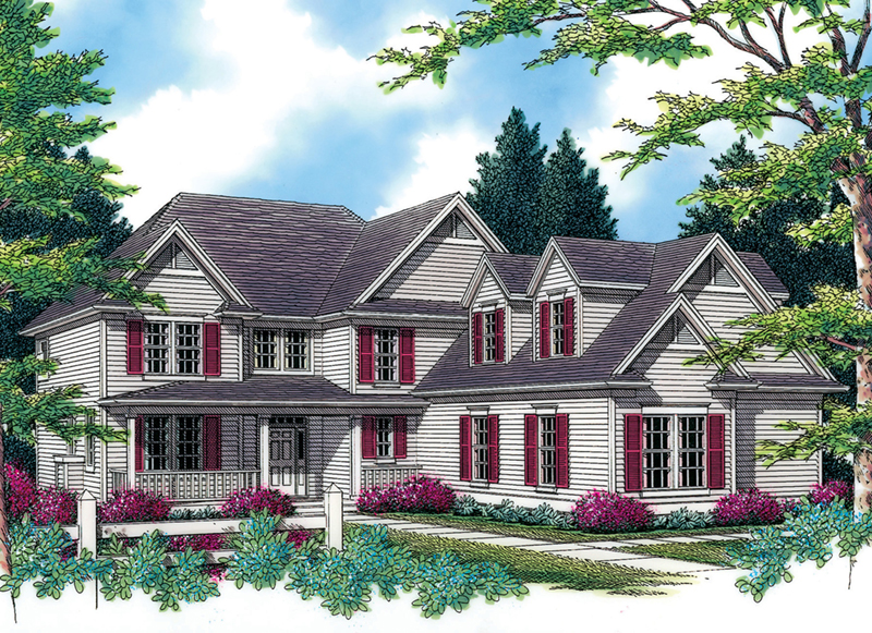 Country House Plan Front of Home -  011S-0117 | House Plans and More