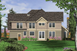 Tudor House Plan Rear Photo 01 -  011S-0130 | House Plans and More