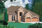 Luxury House Plan Front Image -  011S-0132 | House Plans and More