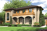 Sunbelt Home Plan Front of Home -  011S-0136 | House Plans and More