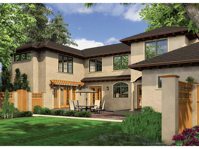 Sunbelt Home Plan Rear Photo 01 -  011S-0136 | House Plans and More
