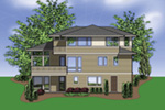 Luxury House Plan Rear Photo 01 -  011S-0138 | House Plans and More