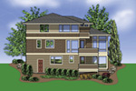 Contemporary House Plan Color Image of House -  011S-0139 | House Plans and More