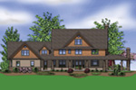 Country House Plan Rear Photo 01 -  011S-0142 | House Plans and More