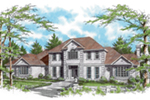 Traditional House Plan Front of Home -  011S-0152 | House Plans and More