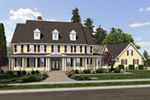 Farmhouse Plan Front of Home -  011S-0156 | House Plans and More