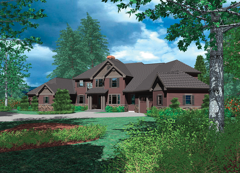 Arts & Crafts House Plan Front of Home -  011S-0157 | House Plans and More
