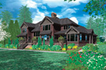 Arts & Crafts House Plan Color Image of House -  011S-0157 | House Plans and More