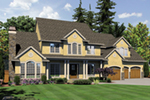 Luxury House Plan Front of Home -  011S-0158 | House Plans and More