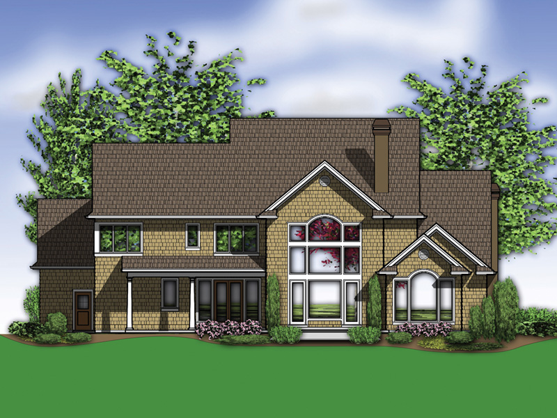 Luxury House Plan Color Image of House -  011S-0158 | House Plans and More